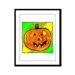 Halloween Pumpkin Framed Panel Print
