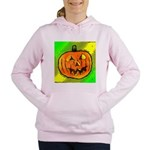 Halloween Pumpkin Women's Hooded Sweatshirt