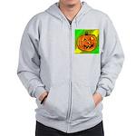Halloween Pumpkin Zip Hoodie