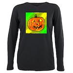 Halloween Pumpkin Plus Size Long Sleeve Tee