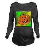 Halloween Pumpkin Long Sleeve Maternity T-Shirt