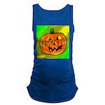 Halloween Pumpkin Maternity Tank Top