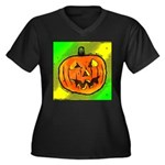 Halloween Pumpkin Plus Size T-Shirt