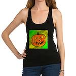 Halloween Pumpkin Racerback Tank Top