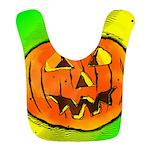 Halloween Pumpkin Polyester Baby Bib