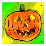 Halloween Pumpkin Square Car Magnet 3