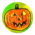 Halloween Pumpkin Round Car Magnet