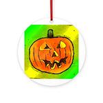 Halloween Pumpkin Round Ornament