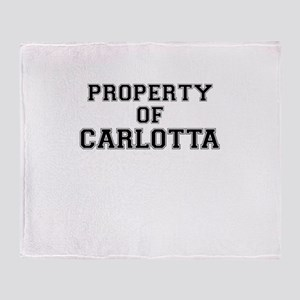 Property of CARLOTTA Throw Blanket