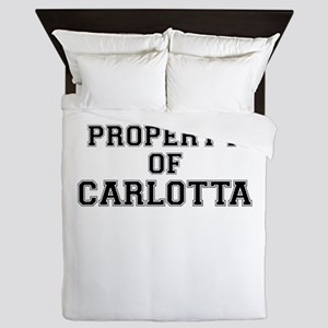 Property of CARLOTTA Queen Duvet
