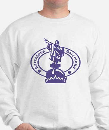 Barcelona Passport Stamp Sweatshirt