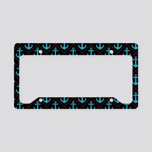 Black and Turquoise Nautical Anchor Pattern Licens