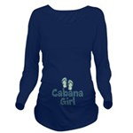 Cabana Girl Long Sleeve Maternity T-Shirt