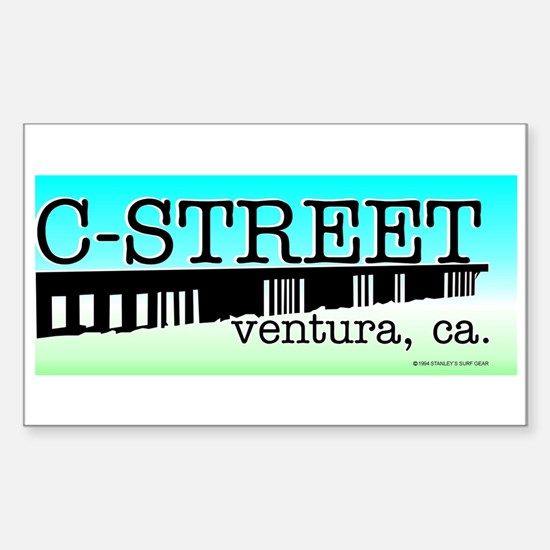 C Street Rectangle Decal