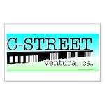 C Street Rectangle Sticker