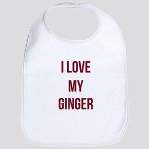 I Love My Ginger Bib