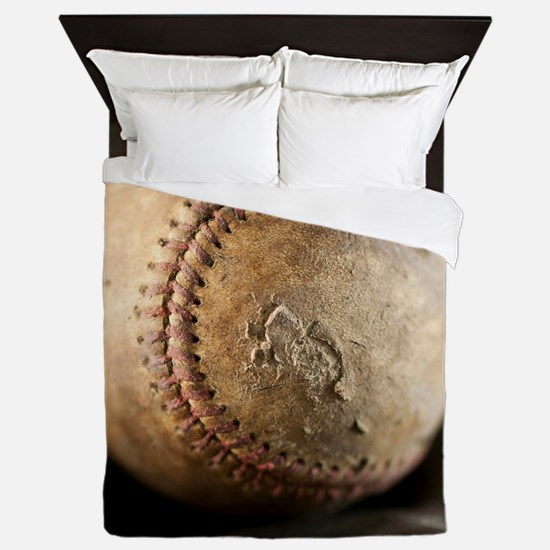 Old Baseball Queen Duvet