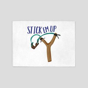 Stick Em Up 5'x7'Area Rug
