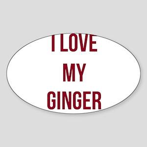 I Love My Ginger Sticker