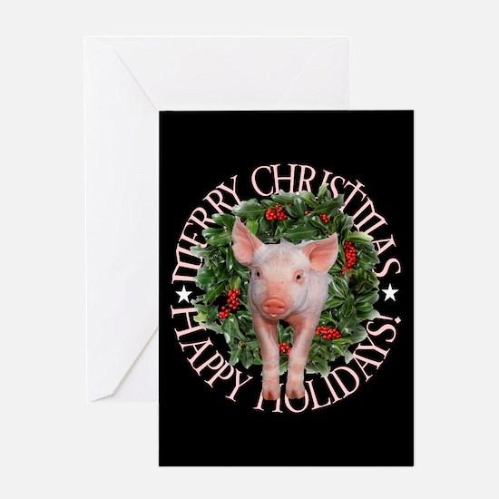 PIGGY XMAS CARD Greeting Cards