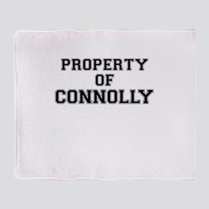 Property of CONNOLLY Throw Blanket