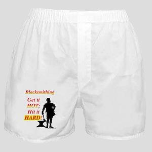 Get it hot Hit it hard Boxer Shorts
