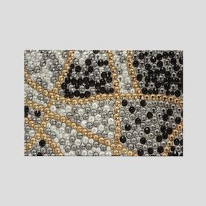 silver rhinestone art nouveau Magnets