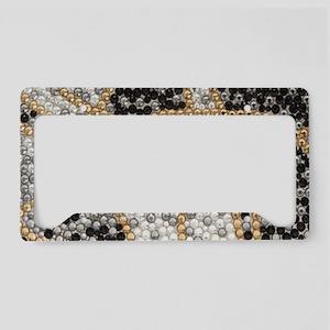 silver rhinestone art nouveau License Plate Holder