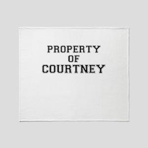 Property of COURTNEY Throw Blanket
