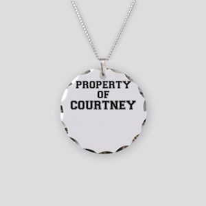 Property of COURTNEY Necklace Circle Charm