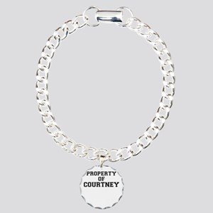 Property of COURTNEY Charm Bracelet, One Charm