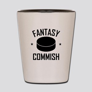 Fantasy Hockey Commish Shot Glass
