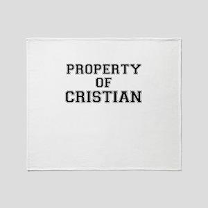 Property of CRISTIAN Throw Blanket