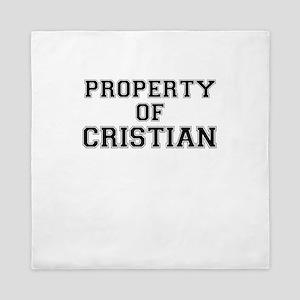 Property of CRISTIAN Queen Duvet