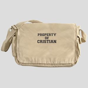 Property of CRISTIAN Messenger Bag