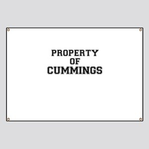 Property of CUMMINGS Banner