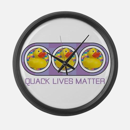 Quack Lives Matter Large Wall Clock