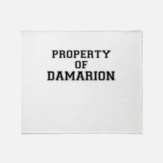 Property of DAMARION Throw Blanket