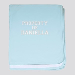 Property of DANIELLA baby blanket