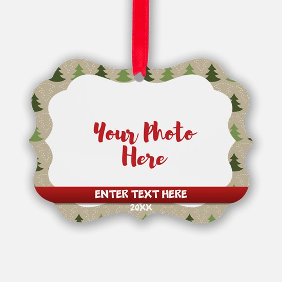 Rustic Personalized Ornament