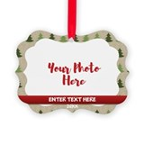 Rustic christmas Picture Frame Ornaments