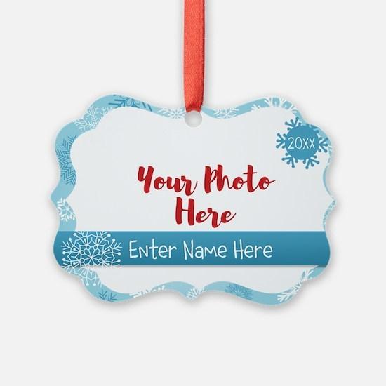 Snowflake Personalized Picture Ornament
