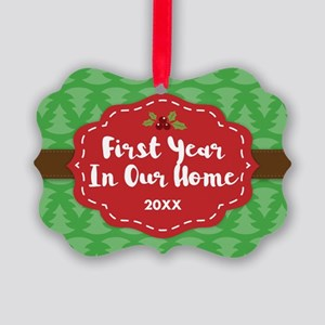 First Home Personalized Picture Ornament