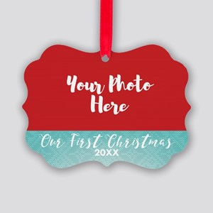 First Christmas Personalized Picture Ornament