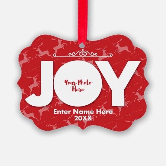 Family Photo Joy Personalized Ornament