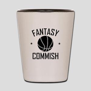Fantasy Basketball Commish Shot Glass