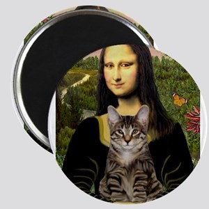Mona Lisa & her Tiger Cat Magnets
