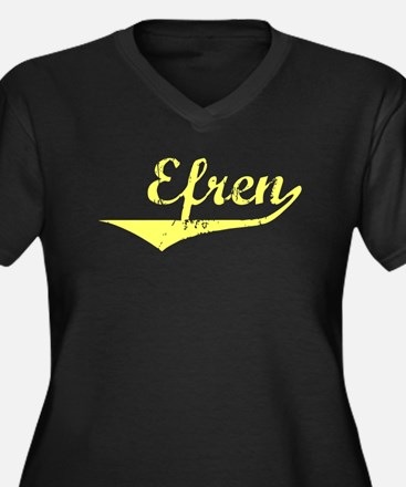 Efren Vintage (Gold) Women's Plus Size V-Neck Dark