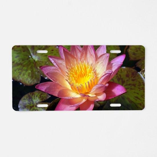 Cute Lilypad Aluminum License Plate