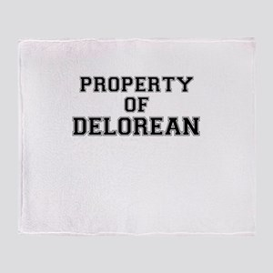 Property of DELOREAN Throw Blanket